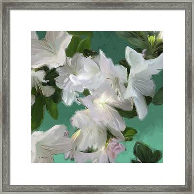 Blue And White Flower Art 3 Framed Print