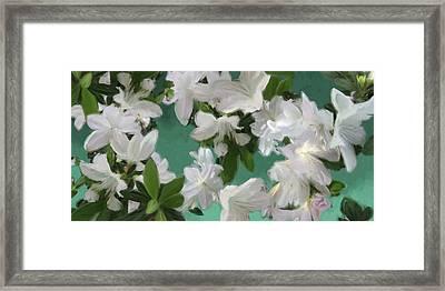 Blue And White Flower Art  Framed Print