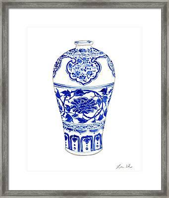 Blue And White Ginger Jar Chinoiserie 3 Framed Print