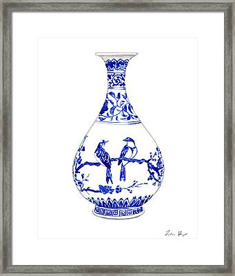 Blue And White Ginger Jar Chinoiserie 7 Framed Print