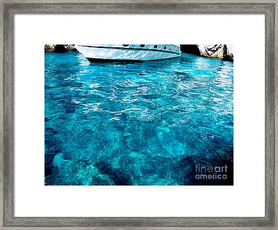 Blue And White Framed Print