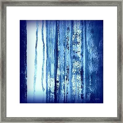 Blue And White Rainy Day Framed Print