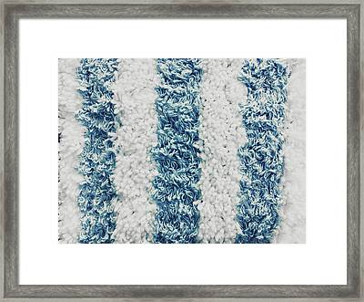 Blue And White Towelling Framed Print by Tom Gowanlock