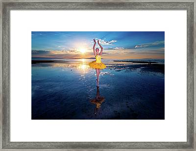 Blue And Yellow 2 Framed Print