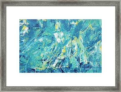 Blue And Yellow Framed Print