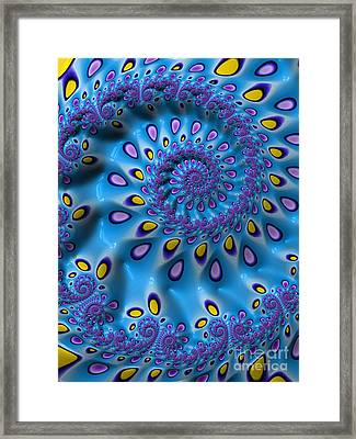Blue And Yellow Tears Framed Print by John Edwards