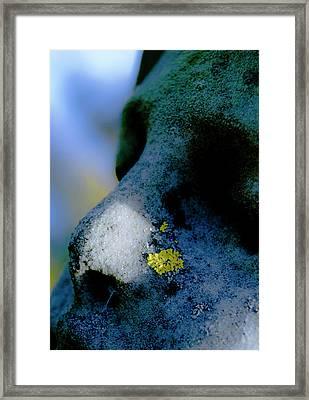 Blue Angel Face II Framed Print by Grebo Gray