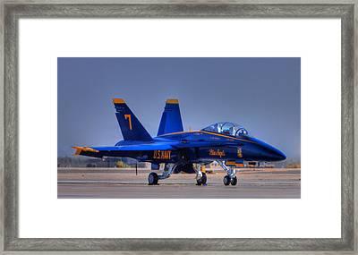 Blue Angel Number 7 Framed Print by Paul Owen