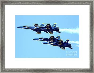 Blue Angels 4 Team Formation 2 Framed Print by Wingsdomain Art and Photography