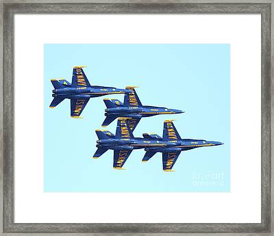 Blue Angels 4 Team Formation 3 Framed Print by Wingsdomain Art and Photography