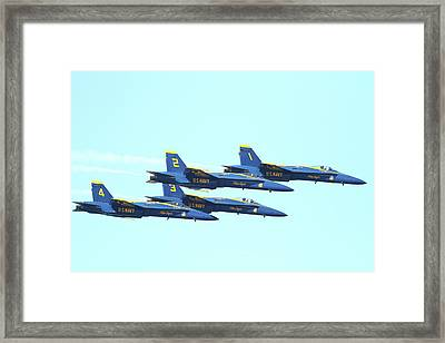 Blue Angels 4 Team Formation 4 Framed Print by Wingsdomain Art and Photography