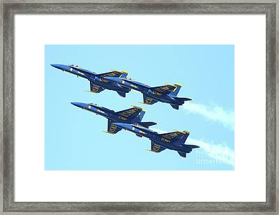 Blue Angels 4 Team Formation Framed Print by Wingsdomain Art and Photography