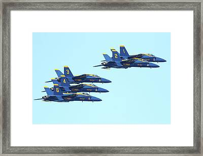 Blue Angels 5 Team Formation 3 Framed Print by Wingsdomain Art and Photography