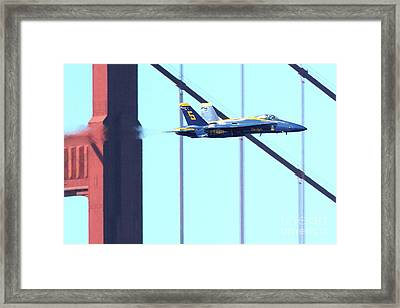 Blue Angels And Golden Gate Bridge . 7d2602 Framed Print