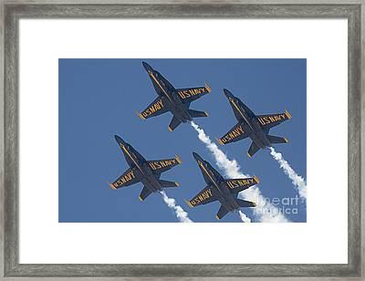 Blue Angels Blue Skies Framed Print