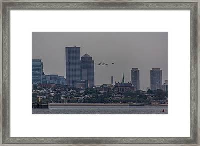 Blue Angels Boston Flyover Framed Print by Brian MacLean
