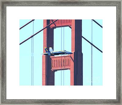 Blue Angels Crossing The Golden Gate Bridge 10 Framed Print by Wingsdomain Art and Photography