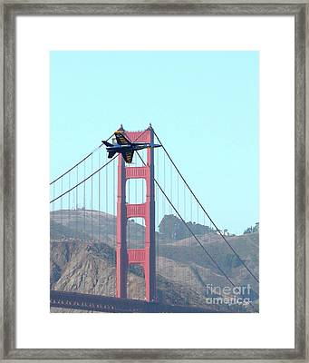 Blue Angels Crossing The Golden Gate Bridge 3 Framed Print