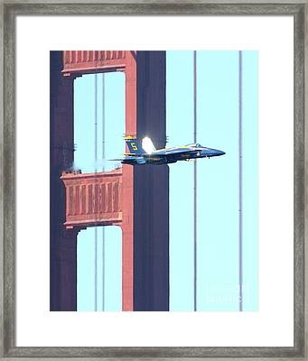 Blue Angels Crossing The Golden Gate Bridge 7 Framed Print by Wingsdomain Art and Photography