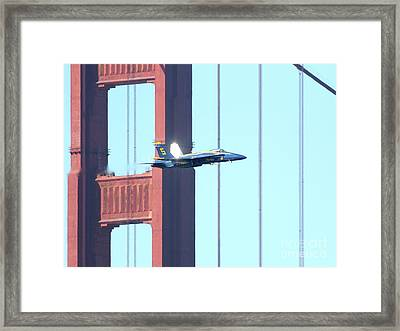 Blue Angels Crossing The Golden Gate Bridge 8 Framed Print by Wingsdomain Art and Photography
