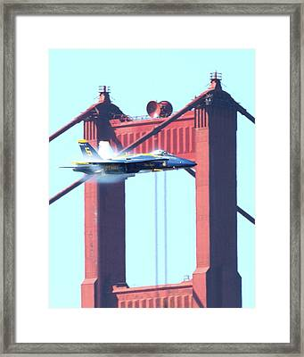 Blue Angels Crossing The Golden Gate Bridge 9 Framed Print by Wingsdomain Art and Photography