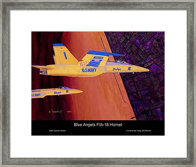 Blue Angels Framed Print by Dennis Vebert