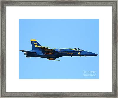 Blue Angels F-18 Super Hornet . 7d8049 Framed Print