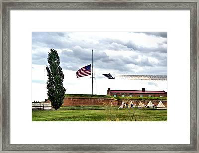 Blue Angels Fly Over Fort Mc Henry 2014 Framed Print