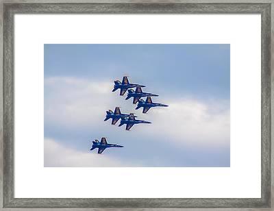 Blue Angels Flyover Framed Print by Brian MacLean