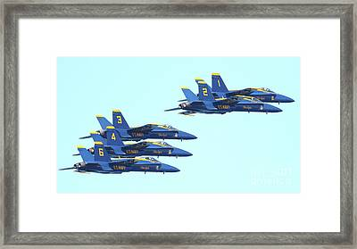 Blue Angels Hornet F18 Supersonic Jet Airplane . 7d2656 Framed Print by Wingsdomain Art and Photography