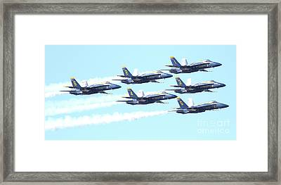 Blue Angels Hornet F18 Supersonic Jet Airplane . 7d2672 Framed Print by Wingsdomain Art and Photography