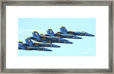 Blue Angels Hornet F18 Supersonic Jet Airplane . 7d2678 Framed Print by Wingsdomain Art and Photography