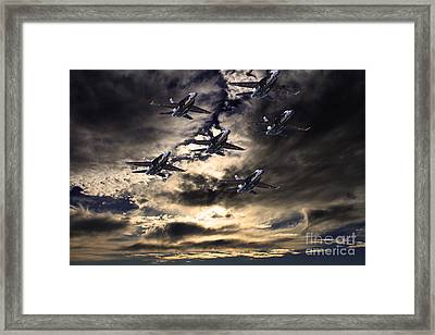 Blue Angels In The Sky Framed Print by Wingsdomain Art and Photography