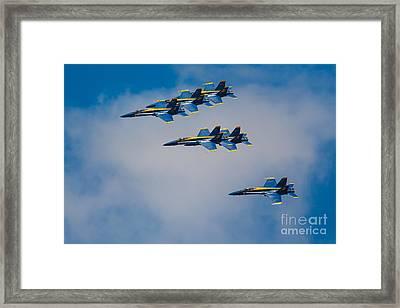 Blue Angels Framed Print by Inge Johnsson