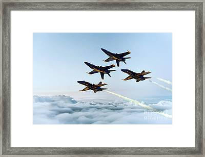 Blue Angels Framed Print by J Biggadike
