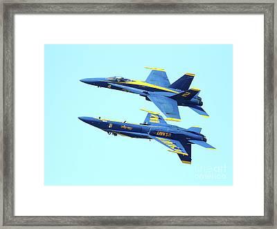 Blue Angels Mirroring Framed Print