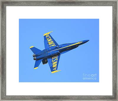 Blue Angels No.4 Framed Print by Wingsdomain Art and Photography