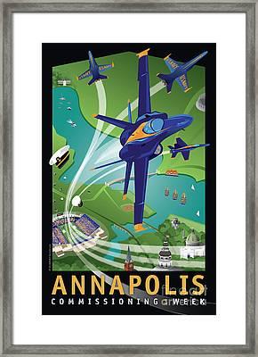 Blue Angels Over Annapolis Usna Framed Print