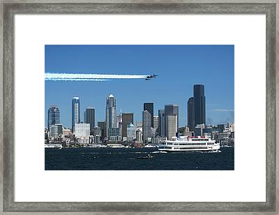 Blue Angels Over Seattle D028 Framed Print by Yoshiki Nakamura