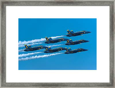 Blue Angels Framed Print by Sebastian Musial