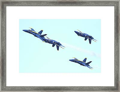 Blue Angels Up Is Down Framed Print by Wingsdomain Art and Photography