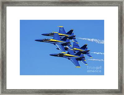 Blue Angels Very Close Formation 1 Framed Print