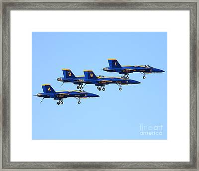 Blue Angels With Landing Gear Down Framed Print