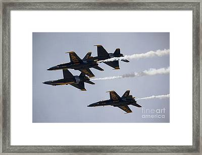 Blue Angels With Precision Framed Print by Ivete Basso Photography