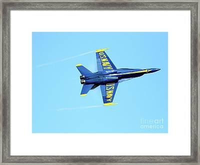 Blue Angels With Wing Vapor Framed Print by Wingsdomain Art and Photography