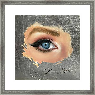 Blue Framed Print by Anna Rose Bain