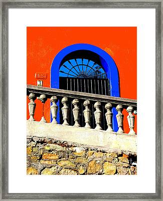 Blue Arch 1 By Michael Fitzpatrick Framed Print by Mexicolors Art Photography