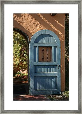 Blue Arch Door Framed Print by Timothy Johnson