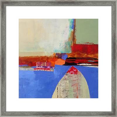 Blue Arch Framed Print by Jane Davies