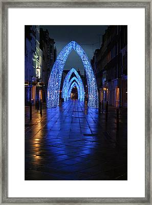 Blue Arch Framed Print by Jez C Self